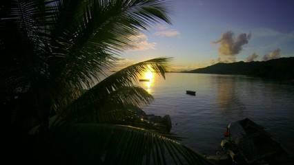 Amazing Sunset Seychelles