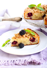 apple and blackberry cake