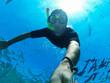 Freediver: underwater selfie