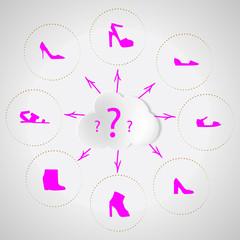 Shoes quest. Selection of women shoes