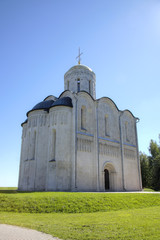 St. Demetrius Cathedral. Vladimir, Golden ring of Russia.