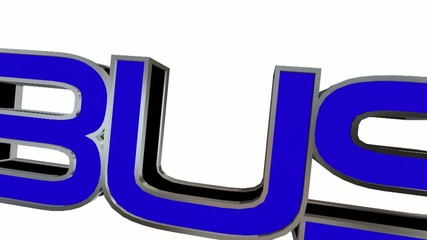 The word Business in blue letters by seal Approved