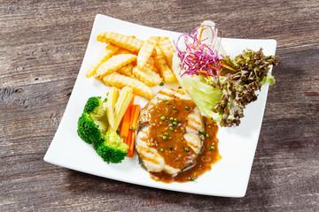 King mackerel steak