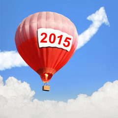 New Year concept with Hot Air Balloon