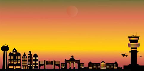 brussels city skyline