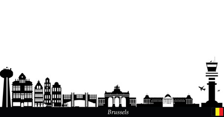 brussels city skyline
