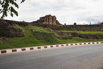 ancient city wall of Chiangmai, Thailand
