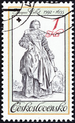 Lady with Muff by Jacques Callot (Czechoslovakia 1983)
