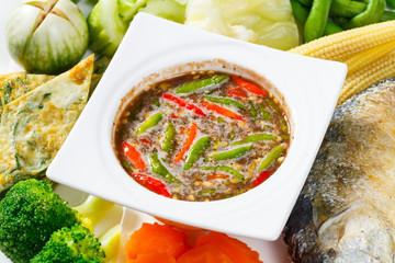 Spicy shrimp paste dip sauce