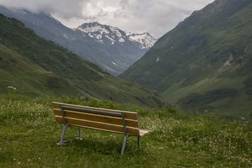 Enspannung mit Blick auf die Berge