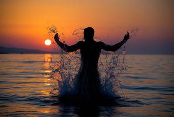 Mann aus dem Meer