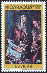 Adoration of the Shepherds by El Greco (Nicaragua 1983)