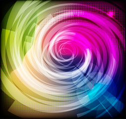 Abstract spiral colorful background