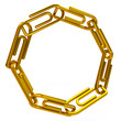 Ring of golden paper clips