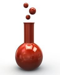 Illustration of orange laboratory glass