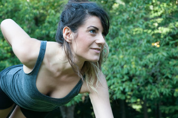 female athlete training on camaldoli park