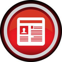 Круглый векторный значок с изображением газеты