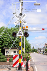 traffic lights at a railroad crossing