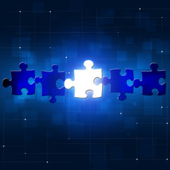 Abstract Puzzle Business Concept Background