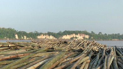 View on the  bamboo rafts on the mekong river (2)
