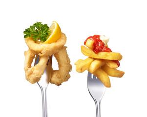 Calamari mit Pommes