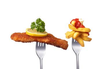 Wiener Schnitzel mit Pommes Frittes