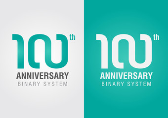 100th anniversary with an infinity symbol. Creative design.