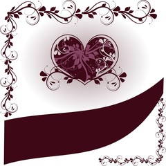 Wedding hearts background