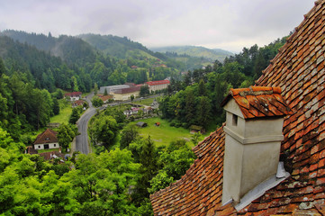 The View from Bran Castle - Dracula`s Castle