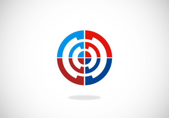target color circle vector logo