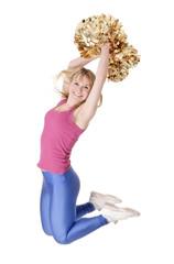 cheerleader jubelt
