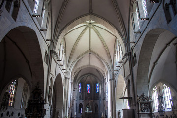 Interior o fSt. Paulus cathedral in Muenster, Germany