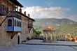 Obrazy na płótnie, fototapety, zdjęcia, fotoobrazy drukowane : Megali Panagia monastery front yard, Samos, Greece
