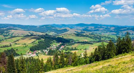 Mountain village in the Carpathian.
