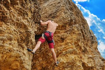 Guy climbing