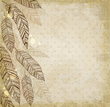 Decorative background with feathers