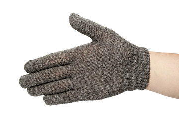 gray gloves isolated