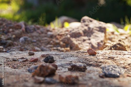 canvas print picture Kleine Steine auf dem Weg