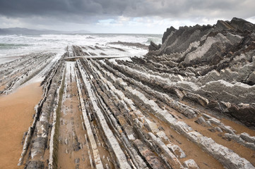 Flysch in Zumaia, Basque Country (Spain)