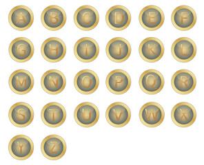 Gold Typewriter keys