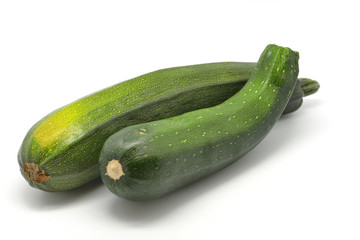 Zucchini isolated in white