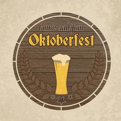 Oktoberfest, vintage poster
