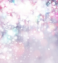 Lights and stars bokeh background.