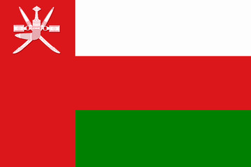 National flag of Sultanate of Oman