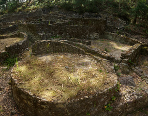 Prehistoric house ruins. Esposende, Portugal