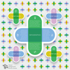 Infographics Vector Background Grid Layout Crisscross