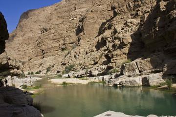 Wadi Shab, Sur, Oman. Water Paradise trough rocks