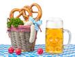 canvas print picture - Deutsches Essen und Bier