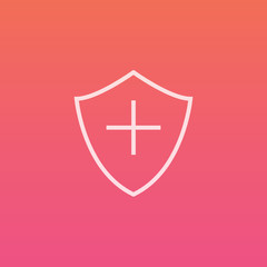 Medical Shield - Finely crafted line icons