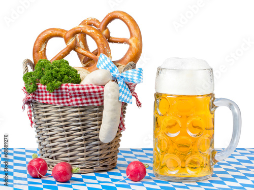 canvas print picture Deutsches Essen und Bier